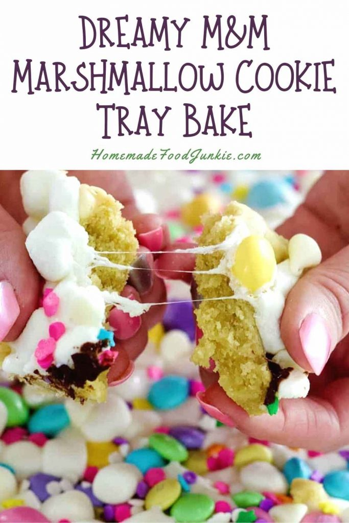 Dreamy M&Amp;M Marshmallow Cookie Tray Bake-Pin Image