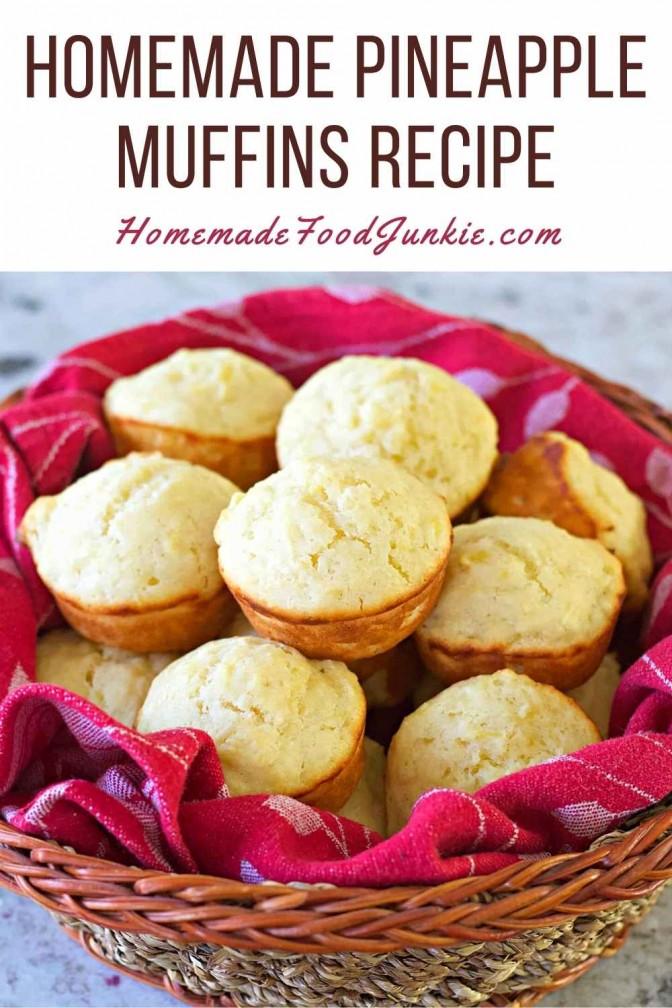 Homemade Pineapple Muffins Recipe-Pin Image
