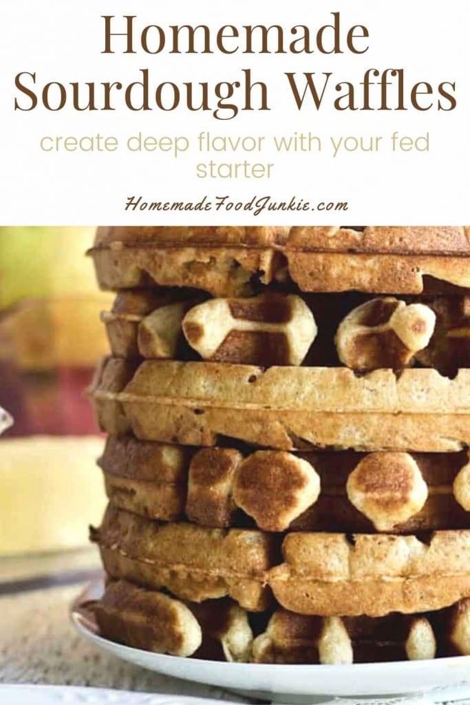Homemade Sourdough Waffles-Pin Image