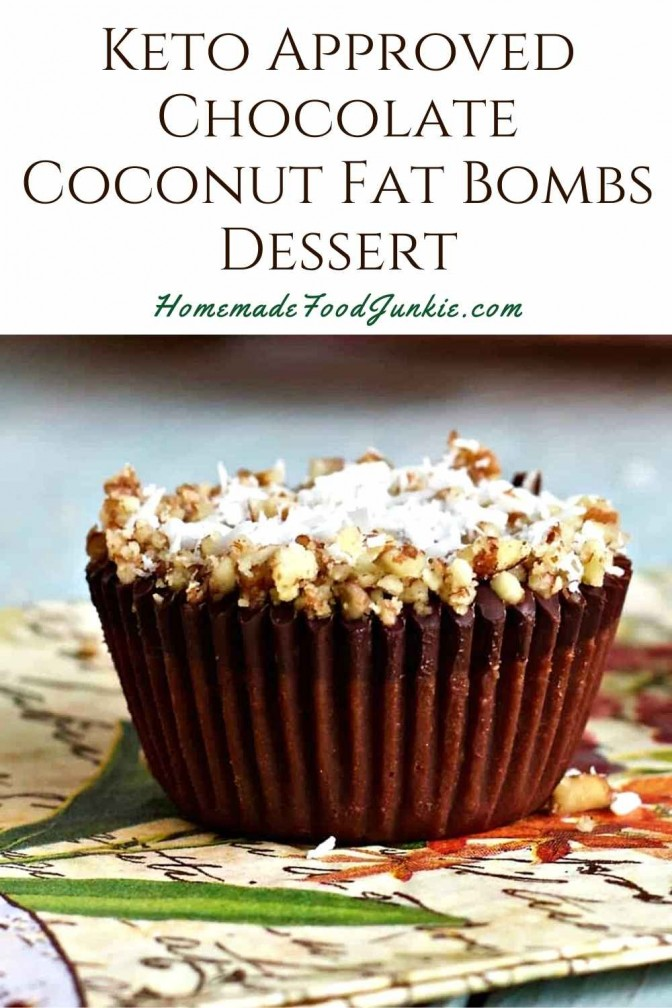 Keto Approved Chocolate Coconut Fat Bombs Dessert-Pin Image