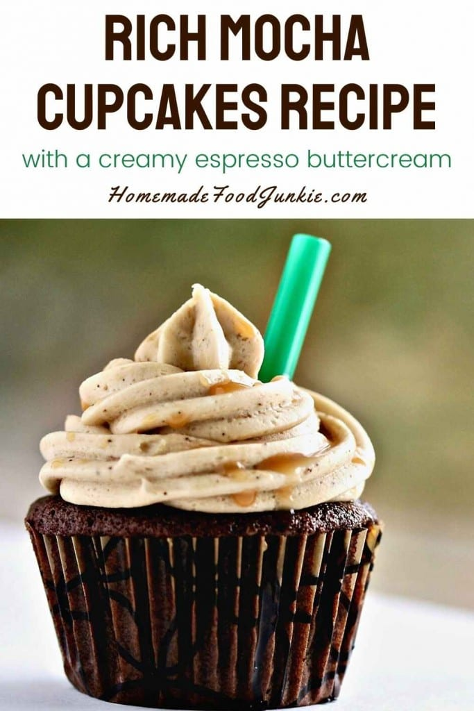 Rich Mocha Cupcakes Recipe-Pin Image
