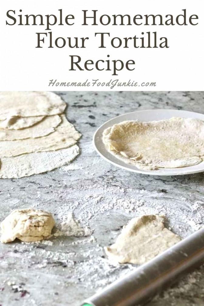 Simple homemade flour tortilla recipe-pin image
