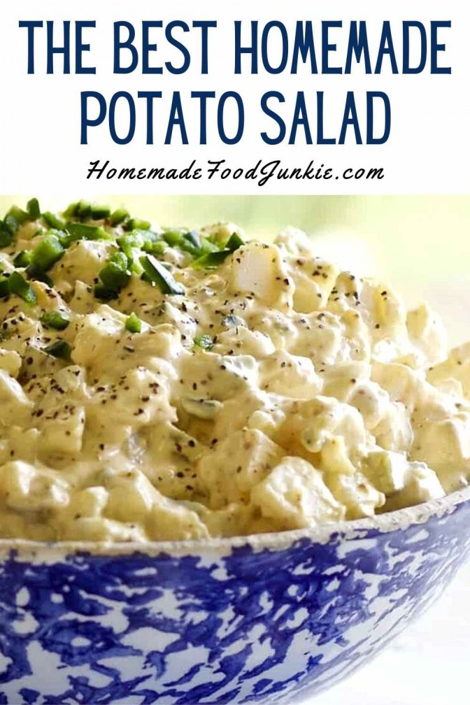 The Best Homemade Potato Salad-Pin Image