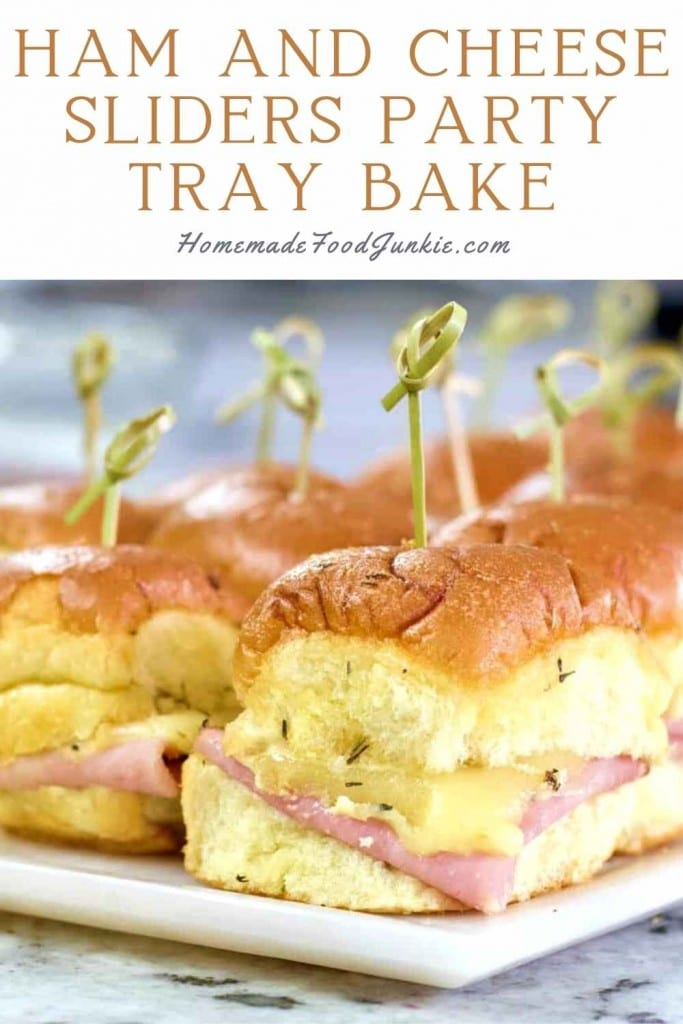 Ham And Cheese Sliders Party Tray Bake-Pin Image