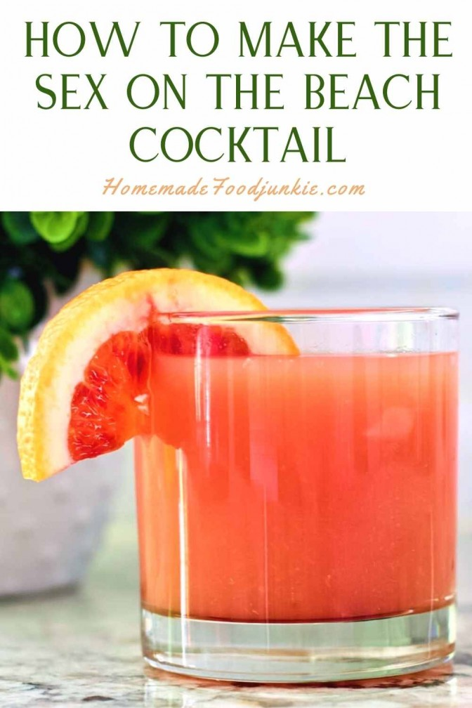 How To Make The Sex On The Beach Cocktail-Pin Image