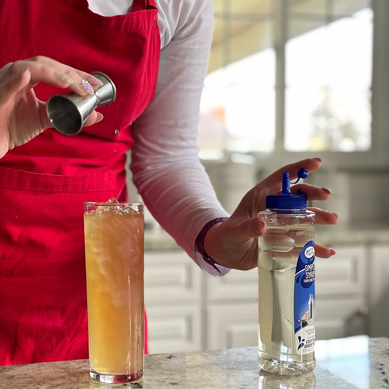 Pouring Simple Syrup Arnold Palmer Drink