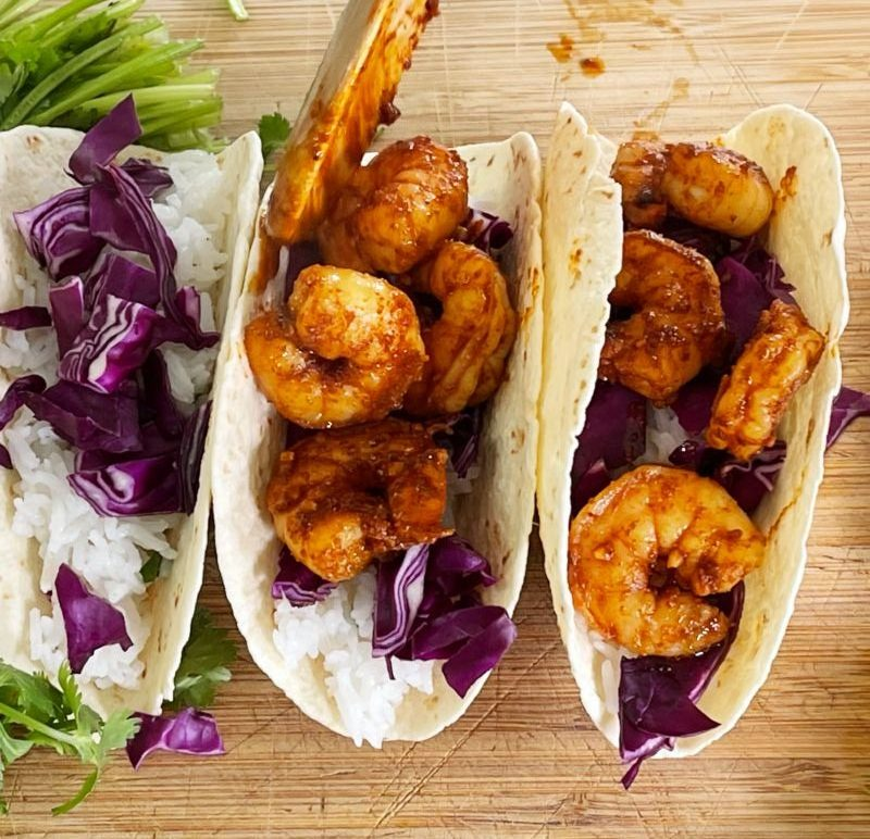 adding shrimp to taco rotated e1622774580352