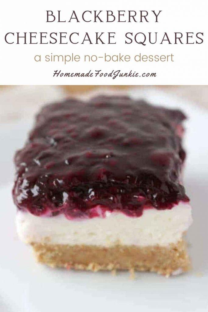 Blackberry Cheesecake Squares-Pin Image