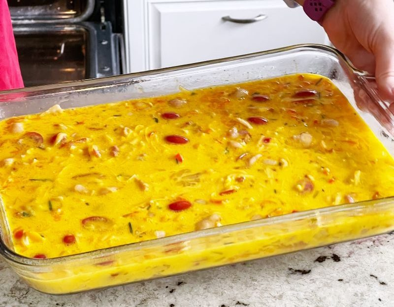 Bacon Frittata Ready For Oven