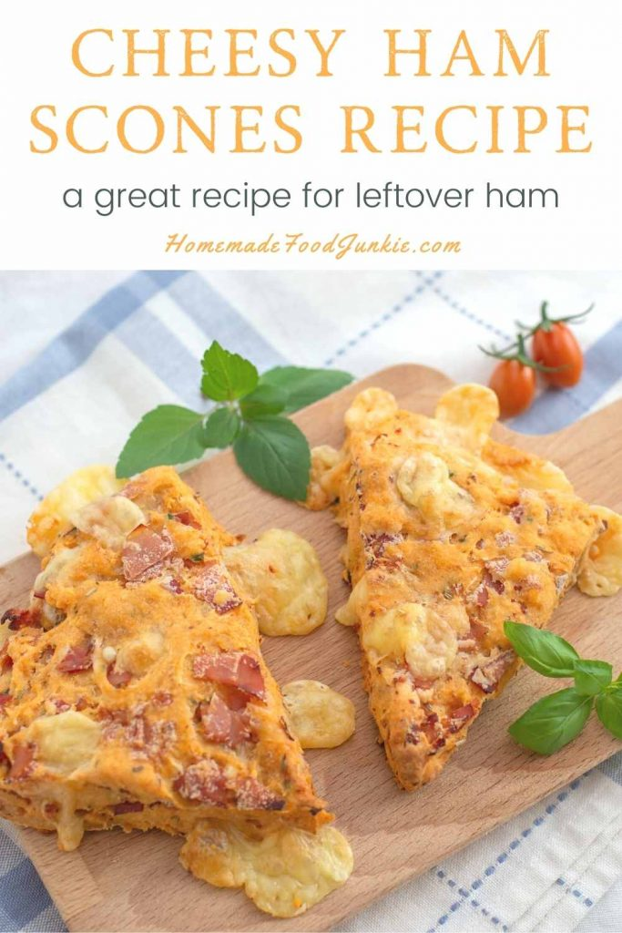 Cheesy Ham Scones Recipe-Pin Image