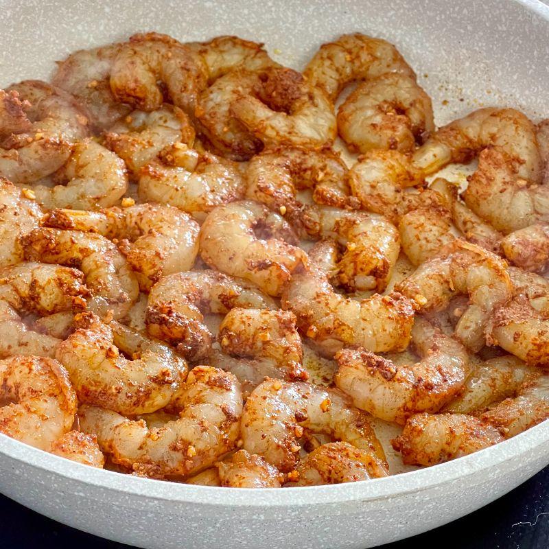 cooking shrimp-shrimp tacos