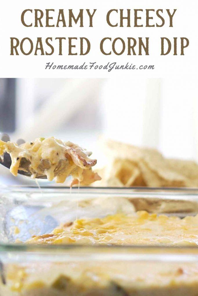 Creamy Cheesy Roasted Corn Dip-Pin Image