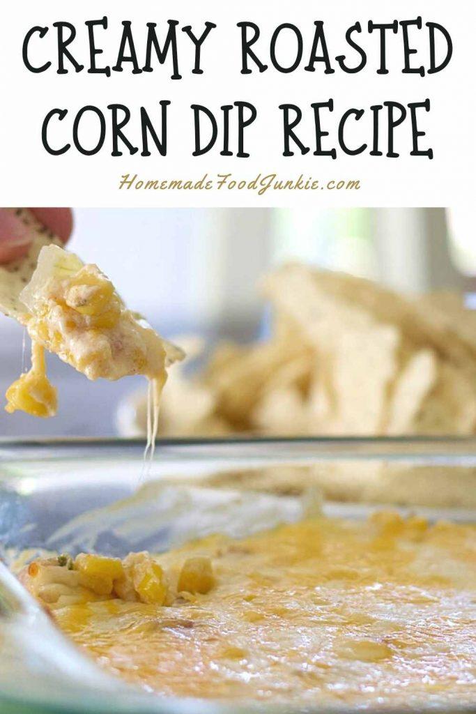Creamy Roasted Corn Dip Recipe-Pin Image