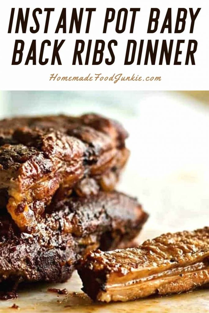 Instant Pot Baby Back Ribs Dinner-Pin Image