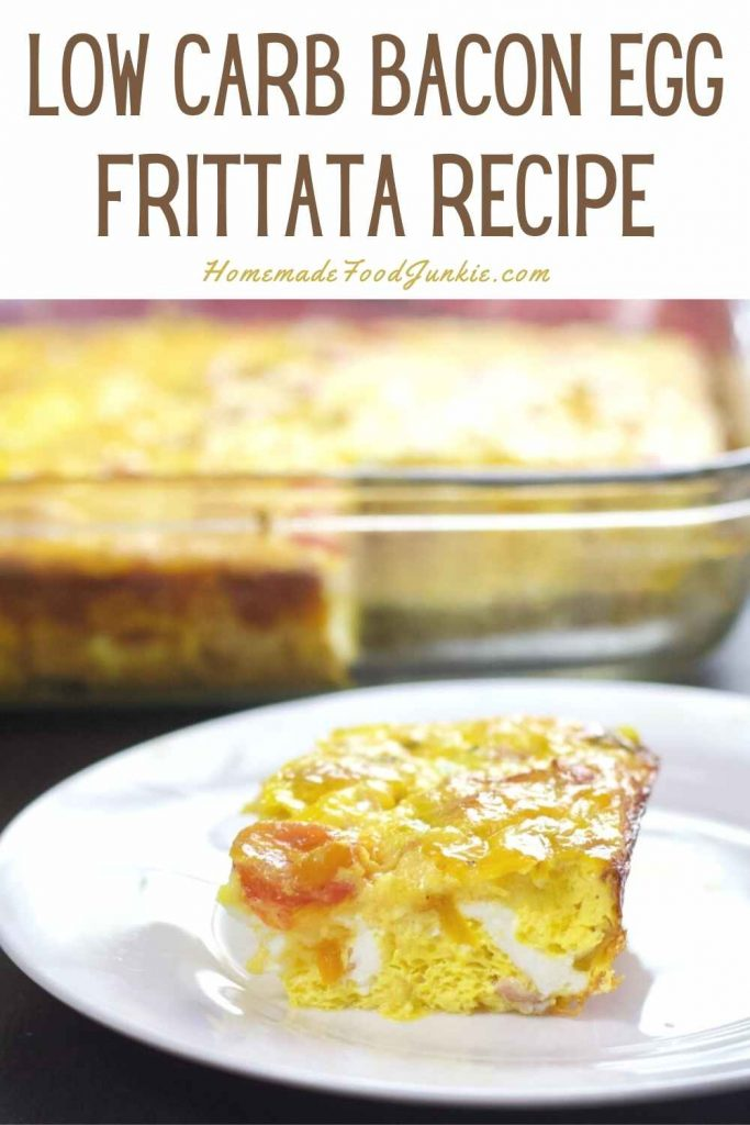 Low Carb Bacon Egg Frittata Recipe-Pin Image