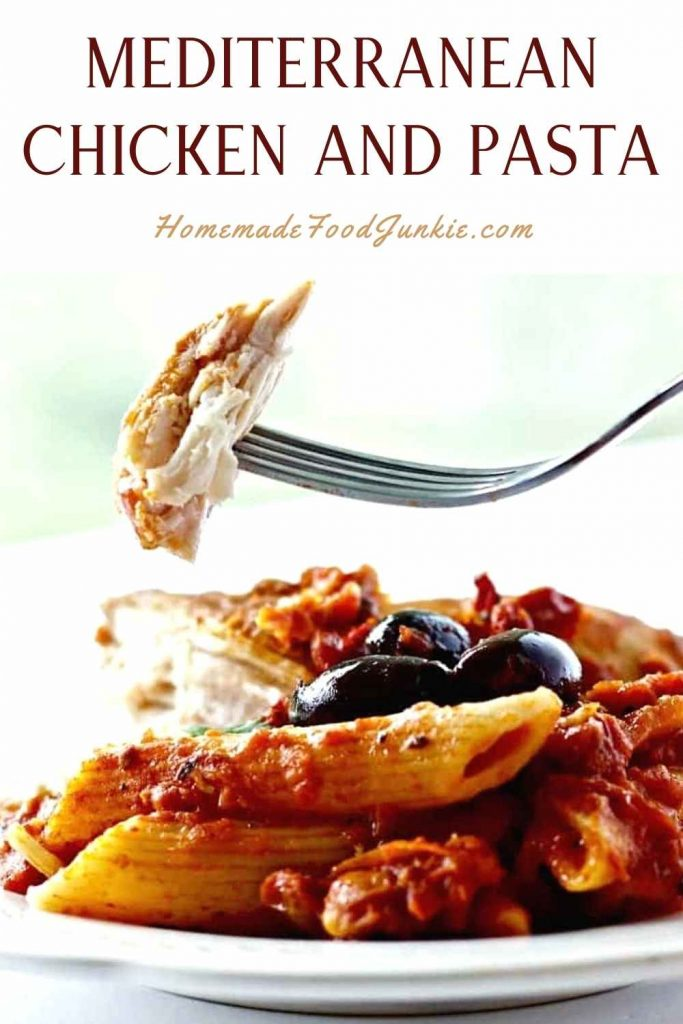 Mediterranean Chicken And Pasta-Pin Image