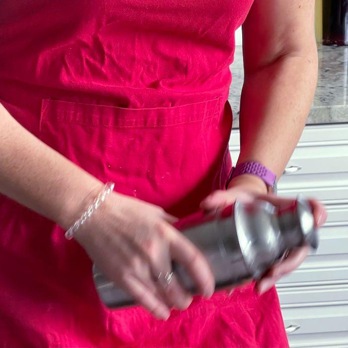 Shaking Cocktail Shaker
