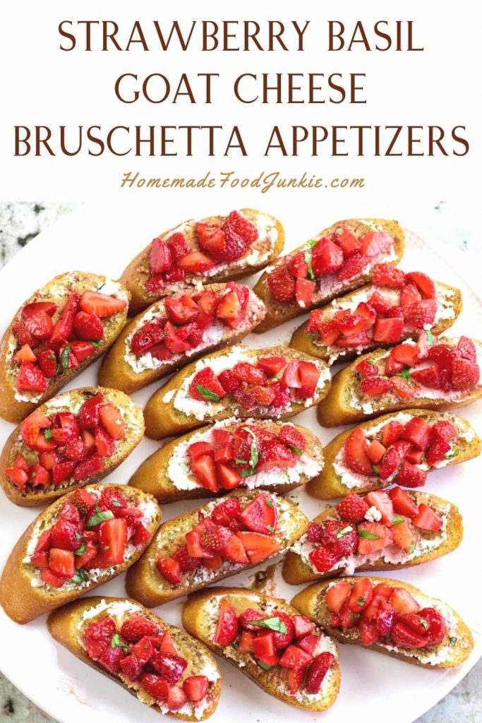 Strawberry Basil Goat Cheese Bruschetta Appetizers-Pin Image