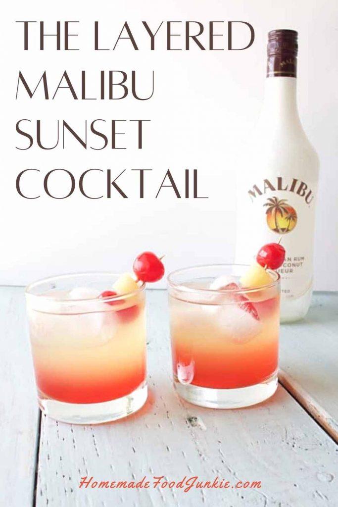 The Layered Malibu Sunset Cocktail-Pin Image