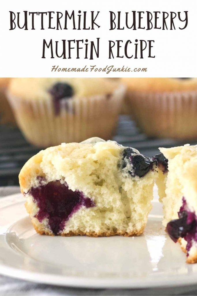 Buttermilk Blueberry Muffin Recipe-Pin Image
