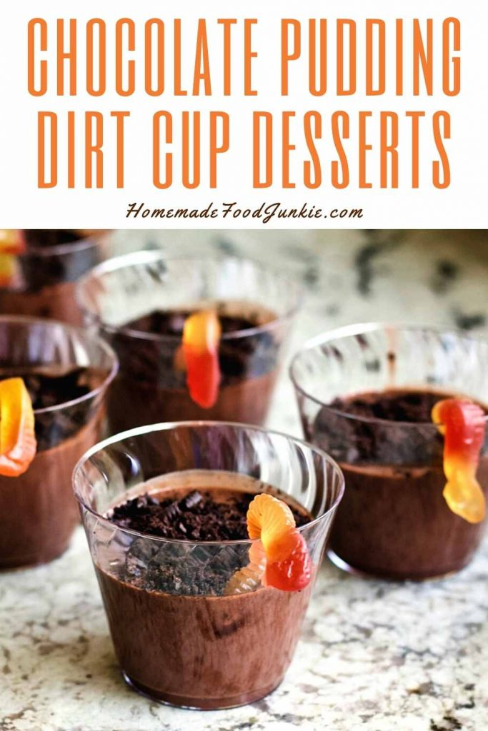 Chocolate Pudding Dirt Cup Desserts-Pin Image