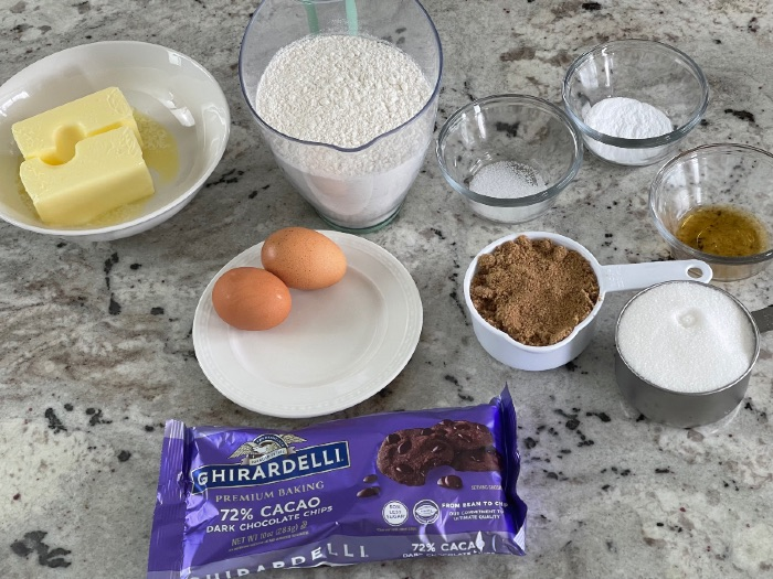 Ingredients For Dark Chocolate Chip Cookies