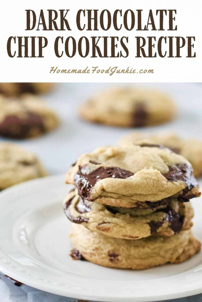 Dark Chocolate Chip Cookies Recipe-Pin Image