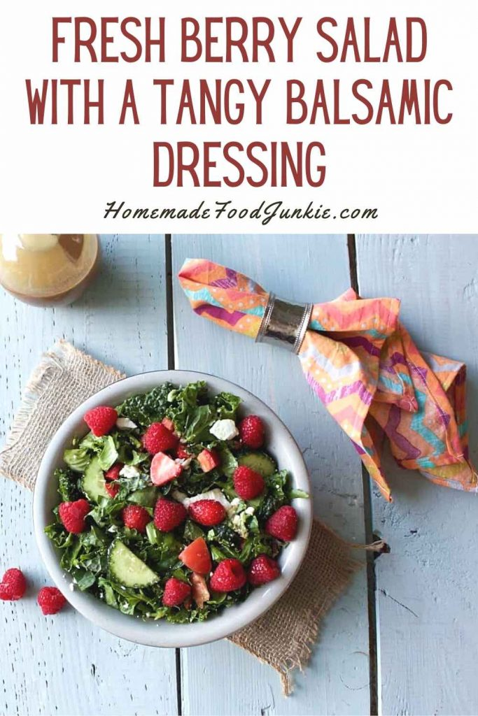 Fresh Berry Salad With A Tangy Balsamic Dressing-Pin Image
