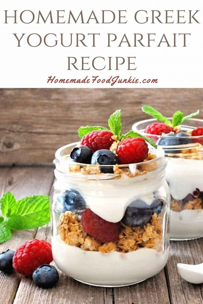 Homemade Greek Yogurt Parfait Recipe-Pin Image