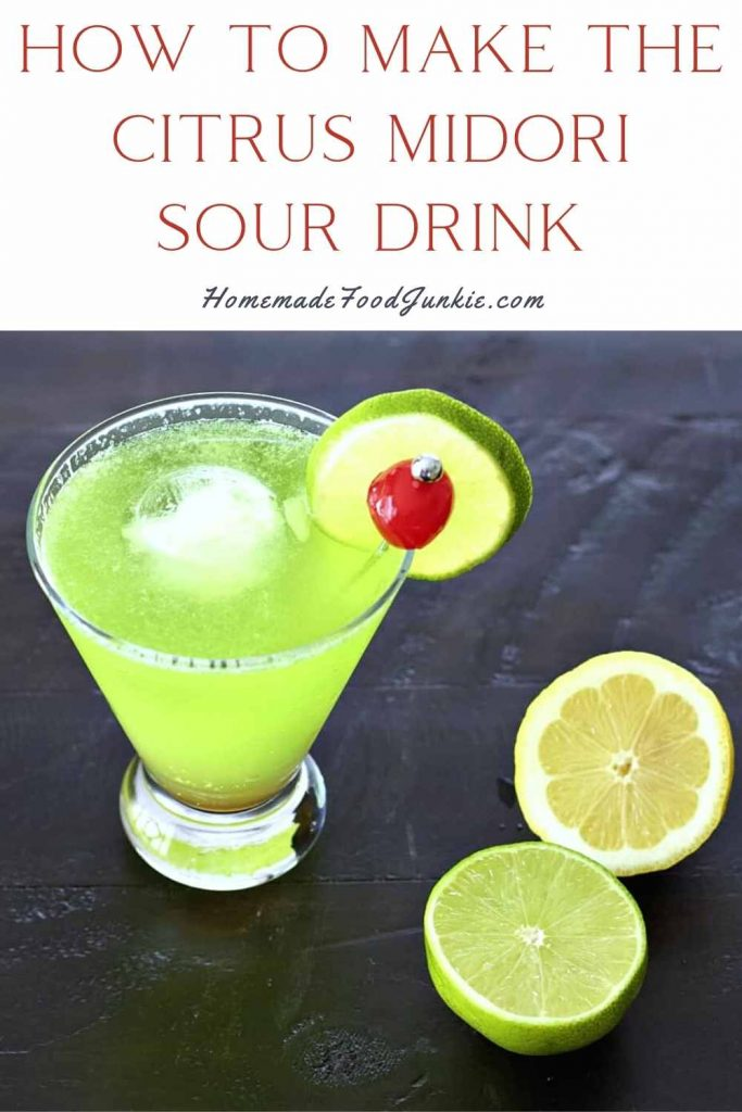How To Make The Citrus Midori Sour Drink-Pin Image