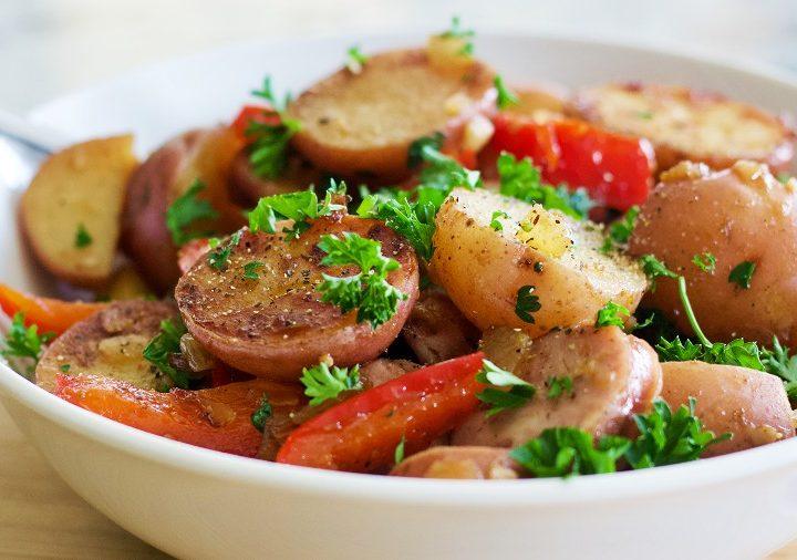 sausage and potatoes stir fry