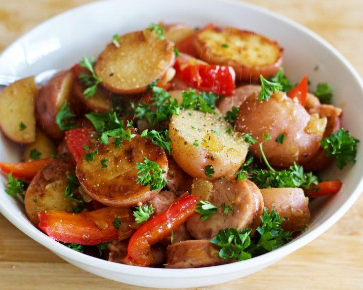 Smoked Sausage With Potatoes