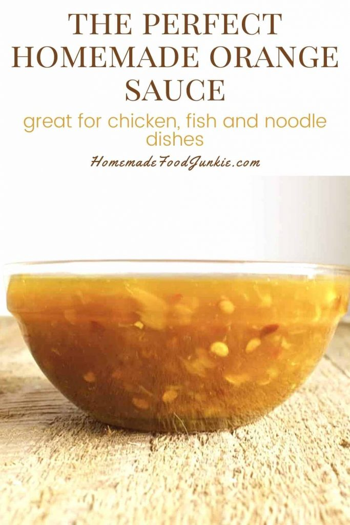 The Perfect Homemade Orange Sauce-Pin Image