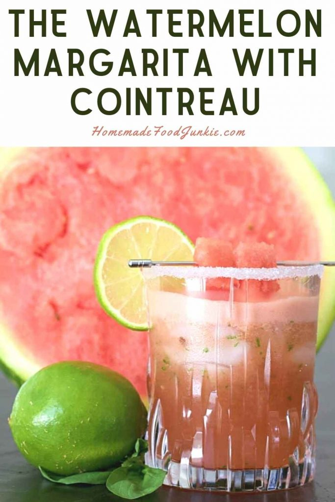 The Watermelon Margarita With Cointreau-Pin Image