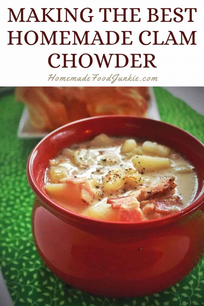 Making The Best Homemade Clam Chowder-Pin Image