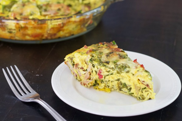 Crustless Spinach And Bacon Quiche