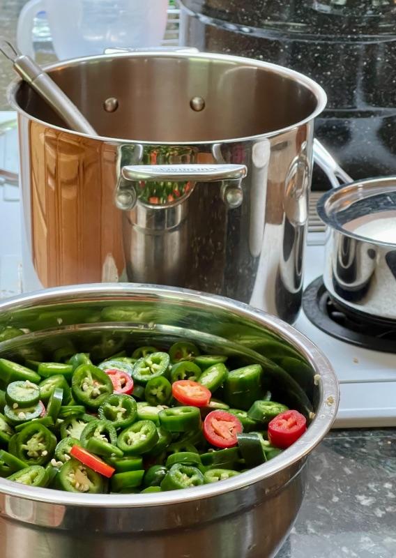 Chopped JalapeÑOs-One Batch- Ready To Add To Brine