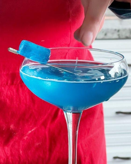 garnished blue raspberry jolly rancher