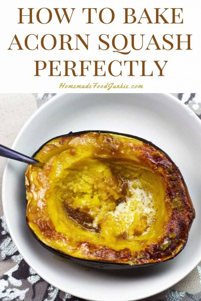 How To Bake Acorn Squash Perfectly-Pin Image