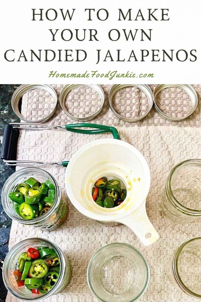 How To Make Your Own Candied Jalapenos-Pin Image