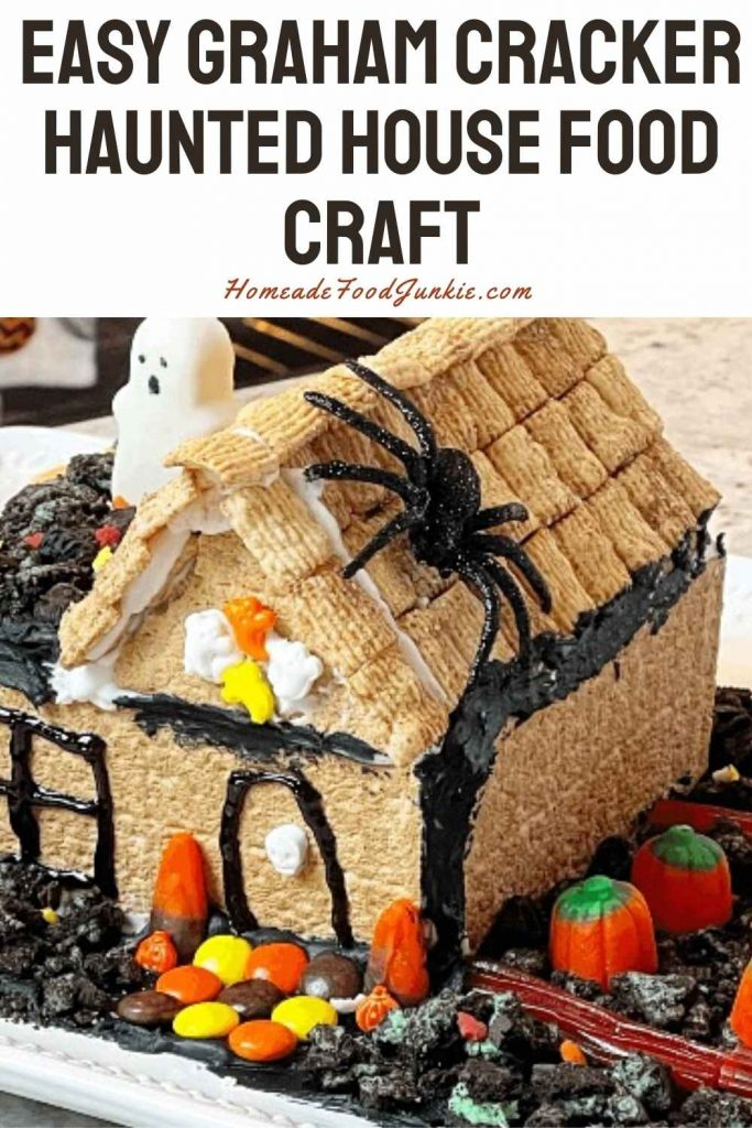 Easy Graham Cracker Haunted House Food Craft-Pin Image