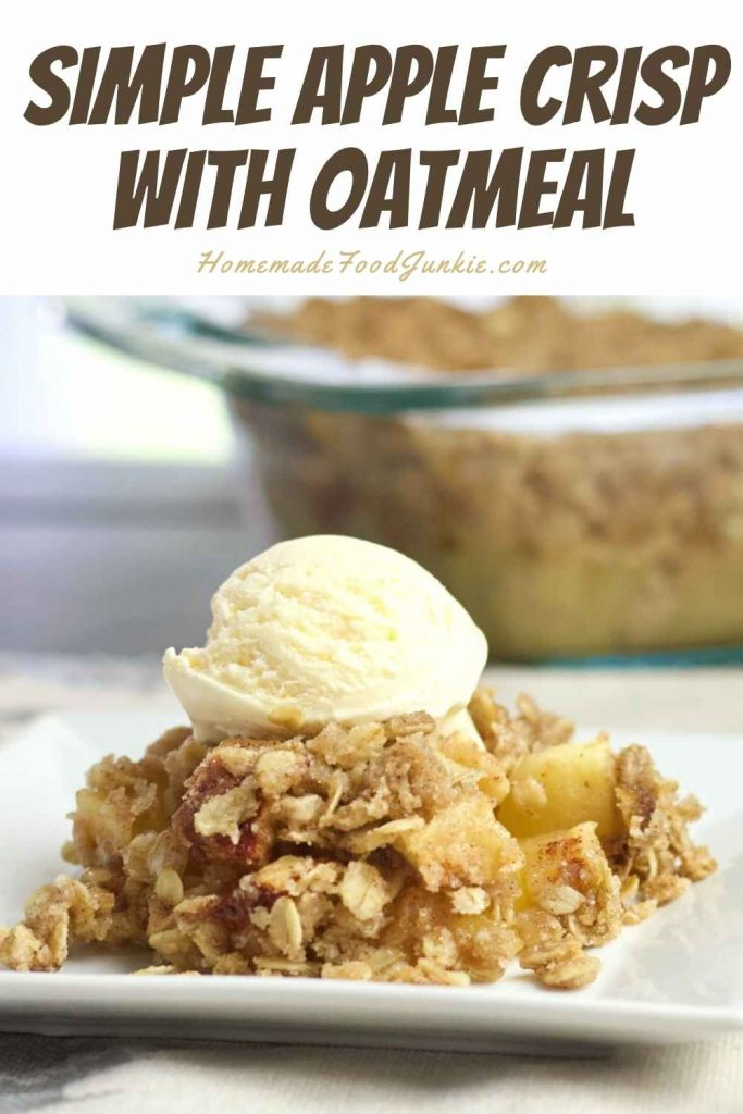 Simple Apple Crisp With Oatmeal-Pin Image
